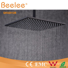 Pommeau de douche de pluie de noir d'orbe de LED LED
