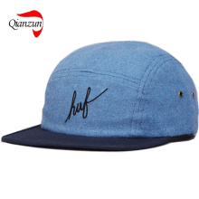 Huf Script Flannel 5 Panel Volley Cap Blue