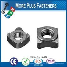 Fabriqué en Taïwan A2 En acier inoxydable DIN 928 Mo, écrous de soudure carrés