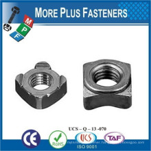 Made in Taiwan A2 Stainless Steel DIN 928 MB Square Weld Nuts