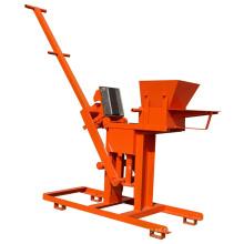Máquina de moldeo de bloques de adobe de tierra manual simple