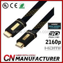 Aluminium-Schale HDMI flaches Kabel