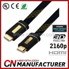 Conector de alumínio Cabo plano HDMI