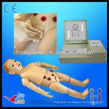 Maniquí de Enfermería Infantil de 1 año de uso completo, maniquí de bebé cpr