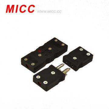 conector padrão preto do tipo J do par termoeléctrico para o par termoeléctrico da fabricação