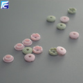 Recycled round shape four part plastic snap button