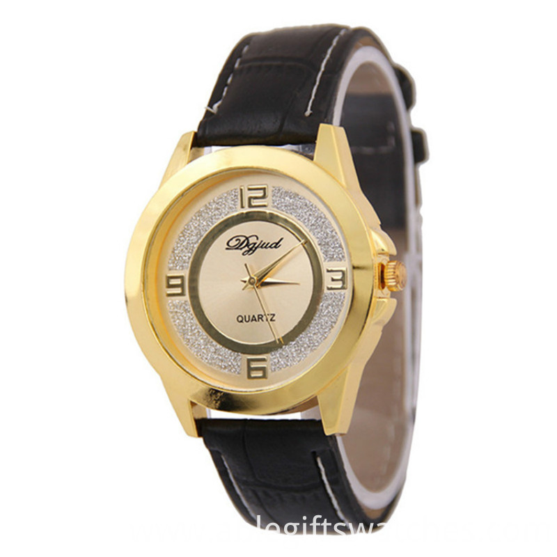 gold militry watch