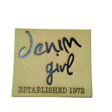 Etiqueta de couro genuíno personalizada de alta qualidade