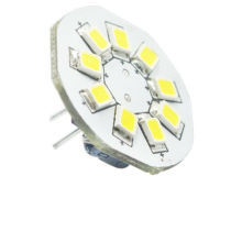 Bombillas G4 con 9LEDs, SMD2835, pin lateral y pin negro, 12V AC DC y 10-30V DC