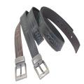 Logo Engraved 100% Cowhide Genuine Leather Belt Alloy Buckle Belt