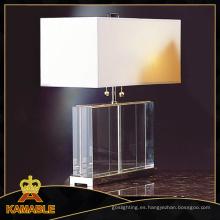 Dormitorio tela Lampshade lámparas de cristal de la tabla (TL1114)