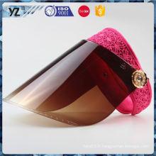Hot promotion simple conception plâtre plastique visière chapeau pour 2016
