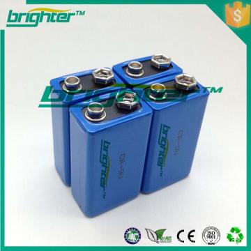Piles au lithium de 9v de vente chaude fabriquées en gros en Chine
