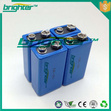 High Capacity 9V Lithium Non-Rechargeable Battery Made In China