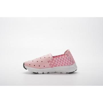 Pink Color Children's Microfiber Woven Shoes