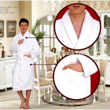 dormir bata de baño de los hombres, albornoz del hotel barato buena calidad flanel