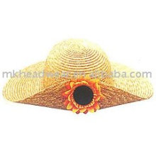 Fashion straw hat with flower