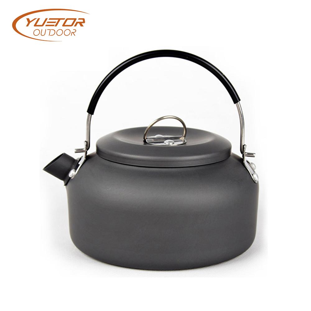 1.4L Anodised aluminum Outdoor BBQ kettle tea pot (2)