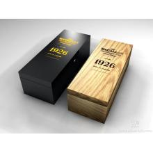 Caixa de presente de madeira feita sob encomenda do vinho com garantia longa