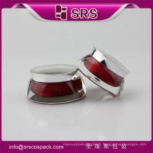 Emballage de récipient cosmétique vide SRS, pot de couleur rouge pour la crème pour le visage