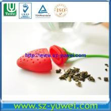 New Designed Silicone Tea Strainer in Strawberry Shape