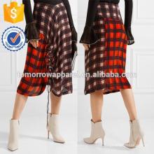 Nova moda reuniu verificado saia de crepe de chine DEM / DOM fabricação atacado moda feminina vestuário (TA5154)