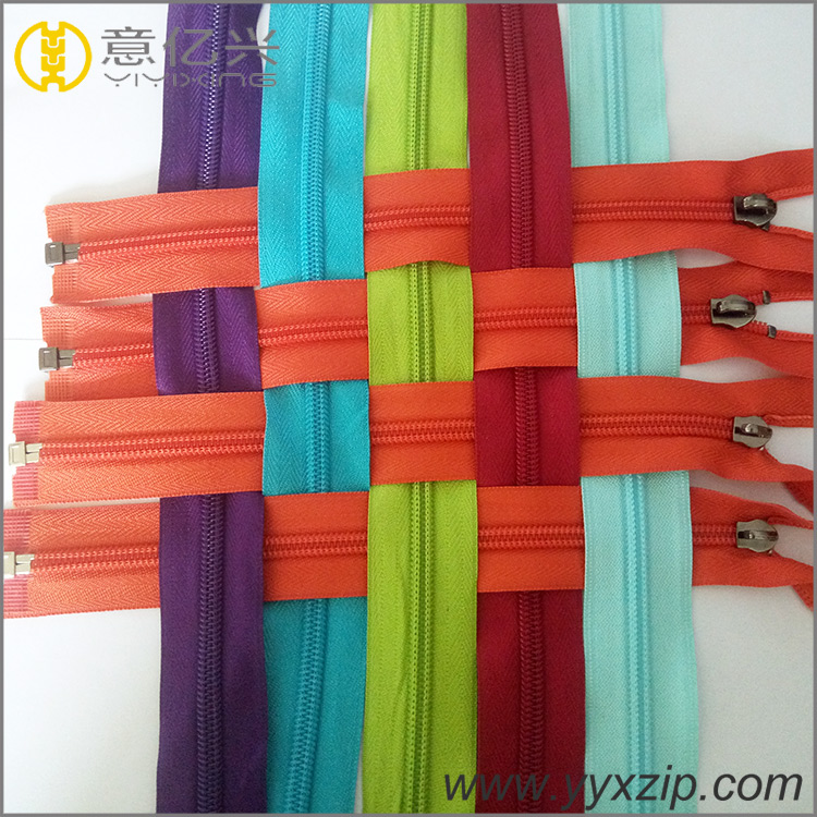 Garment nylon zipper