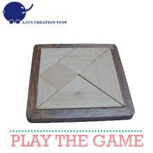 Handmade Wooden Puzzle Tangram para Crianças