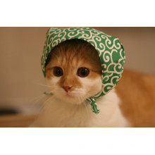 Bandana linda de encargo del perrito del animal doméstico del gato del algodón