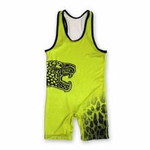 Camisola de alças dos homens personalizados Sublimation Camisola interioa Wrestling com Armhole grande