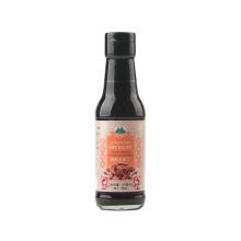 Botella de vidrio de 150 ml de salsa de soja oscura