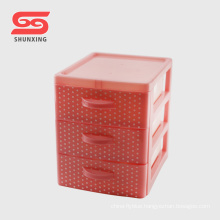 3 layers storage box small cheap plastic drawers