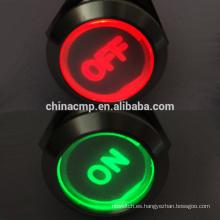 """Doble LED Rojo / Verde """"ON"""" """"OFF"""" Símbolo 12V 24V 220V Luz encendida Auto Interruptor Antivandalismo Interruptor de botón pulsador"""