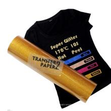 50cm Wide easyweed cold peel inkjet PU Glitter Heat Transfer Vinyl Film for t-shirt