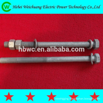 Galvanized steel electrical bolt and nut/hex head bolt 4.8 grade