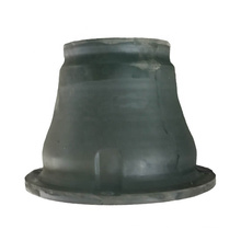 High performance cone rubber fender with panel and chain