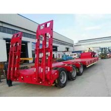 Construction Machinery 3 Axle Flat bed Semi-Trailer