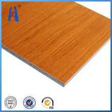 PVDF Imitation Wooden Aluminum Composite Panel Outdoor Using