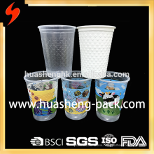 Custom Take Away 12oz Clear Printing Disposable Plastic Cup