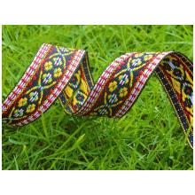 Cinta de raso de poliéster, cara doble simple, etiqueta, cinta de raso tejida, en relieve, raso