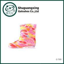 Kids rubber rain boots wellies C-705