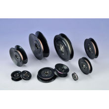 Black Ceramic Guide Pulley / Wire Roller With Plastic Cover Hcr001
