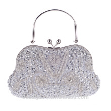 Pearl bridal clutch bag Evening makeup Bag tote cosmetic bag Rhinestone Wedding Prom Dinner Clutch Bag DB07