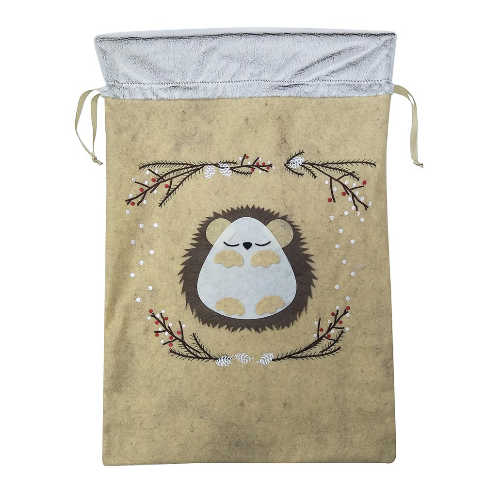Hedgehog christmas sack