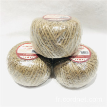 Lot de ficelles en jute de couleur naturelle