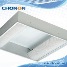 High grade light fitting with arc perforated cover & PVC plastic film