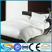 Hotel Baumwoll weißer Streifenbett Set Stoff