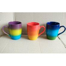 Tasse de couleur d'arc-en-ciel, tasse de couleur de jet