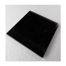 China factory price black back painted glass for table top