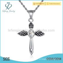 Popular estilo mini anjo colar pingente, anjo pingente de ouro gravado
